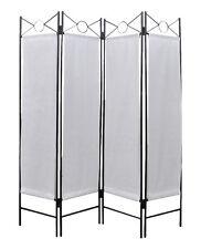 vidaXL 240808 4-Panel Room Divider, White