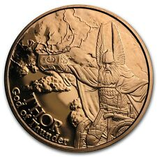 Norse Gods Series Thor - Valkyrie 1 oz .999 Copper BU Round US Made Bullion Coin