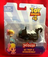 Disney Pixar Toy Story4 Mini collectable Bo Peep & Skunkmobile Set New Ages 3+