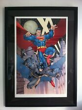 Batman & Superman - JIM LEE S/N AP16 LE Lithograph Warner Bros Store Gallery DC