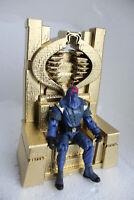 GI Joe Cobra Custom Throne 3D Printed Cobra Commander  gold Throne