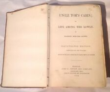 1853 Uncle Tom's Cabin Or Life Among The Lowly Harriet Beecher Stowe Illustrated