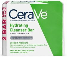 CeraVe Hydrating Cleansing Bar Soap, 2-pack (4.5 oz each)