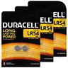 6 x Duracell Alkaline LR54 batteries 1.5V 189 191 V10GA LR1130 AG10 Coin Cell