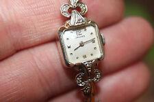 Vintage Ladies Longines Solid 14K White Gold Diamond Watch