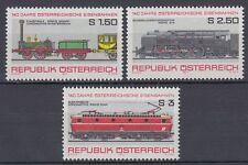 Österreich Austria 1977 ** Mi.1559/61 Eisenbahn Railway Lokomotive Locomotive