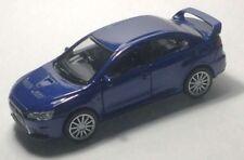 Nex Welly Blue Mitsubishi Lancer Evolution X Diecast Car Scale 1:32