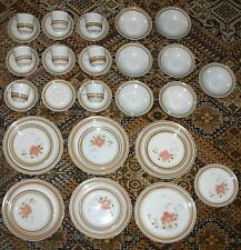 Hearthside Water Colors Blush Dinner Set 36pc Made in Japan plated cups saucers