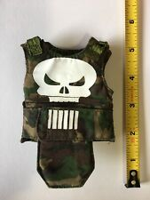 1/6 Scale Military Armor Vest Cammoflauge Punisher Skull