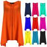Womens Plus Size Top Ladies Vest Blue Black Red Size 16 18 20 22 24 26 28 30 32