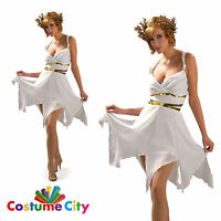 Roman Goddess Toga Greek Empress Womens Adult Fancy Dress Party Costume