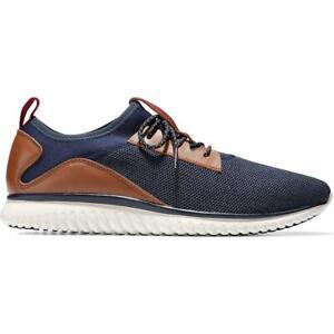 Cole Haan Mens GrandMotion Knit Navy Fashion Sneakers 10.5 Medium (D) BHFO 1921