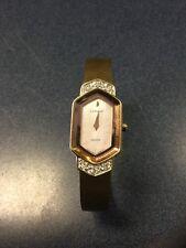 "Seiko Lassale Women's Pink Granite Dial Gold Battery Quartz Watch Nice 5.5""-6"""
