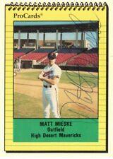 MATT MIESKE-OUTFIELD-HI DESERT MAVERICKS-PRO CARDS #2409-AUTOGRAPHED