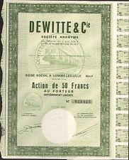 DECO => DEWITTE & Cie, Matériel pour le Chemin de Fer (LOMME-LEZ-LILLE NORD) (G)