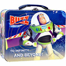 Tin Metal Lunch Snack Toy Box Embossed TOY STORY Buzz Lightyear NEW
