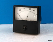 ANALOG PANEL MICRO AMPER METER  DC 0-100μA  1.5%  M42305  USSR RARE