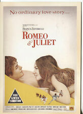 PICTURE POST CARD OF AN OLD  MOVIE POSTER  ROMEO AND JULIET