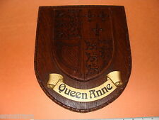 British Royal Coat of Arms Queen Anne Heraldry Crest Wall Plaque England