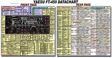 YAESU FT-450 FT-450D  AMATEUR HAM RADIO DATACHART 8 1/2 x 11 (INDEXED)