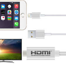 iPhone 5 6 7 8 X and iPad Lightning to HDMI Connector Adapter Cable TV Projector