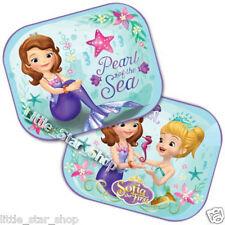 TWO Disney SOFIA THE FIRST Kids Baby Children Girl Car Window Sun Shades 44x35cm