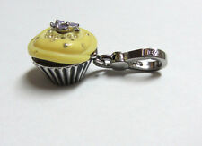Juicy Couture Cupcake Charm Frosted Yellow Opens Locket Box