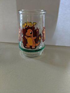 Vintage Pokemon #04 CHARMANDER Promotional Welch's Glass Jelly Jar NINTENDO 1999