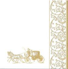 2 Serviettes en papier Mariage Carrosse Decoupage Paper Napkins Coach Wedding
