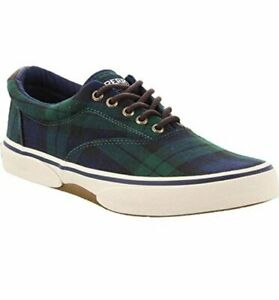 Men's Sperry Top-sider Halyard CVO plaid sneakers shoes 9.5