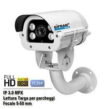 Telecamera lettura targhe IP 3.0 MPX H.264 fino a 200 Kmh telecamere targa 30FPS