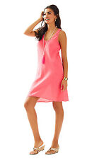 NWT Lilly Pulitzer Hot Coral 100% Linen Patterson Dress, Sz XS, $138