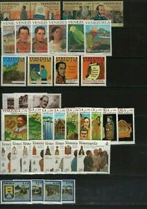 Venezuela: 1983 - 1998, lot of 65 diff. stamps some val. light rust.., . VZ0877