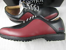 Footjoy Myjoys Golf Shoes Professional Spikeless Asymmetrical Black Red 10 M