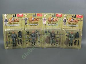 "4 Ultimate Soldier XD 1/18 WWII Wermacht German 3.75"" Soldier Figure D-Day Set"