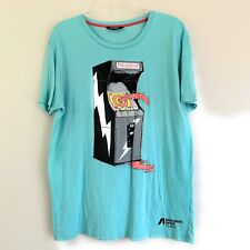Pull and Bear Pull&Bear T Shirt Men's Size Large Mint Green Video Game Graphic
