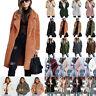 Womens Teddy Bear Fleece Jacket Casual Trench Coat Blazer Outerwear Winter Parka