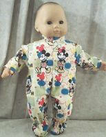 """Doll Clothes Baby Made 2 Fit American Girl 15"""" Boy Bitty Mickey Mouse POW! Red"""