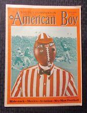1940 Sept  Youth's Companion AMERICAN BOY Magazine - Six-Man Footbal VG+