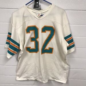 Vintage Miami Dolphins #32 Rawlings Jersey NFL Football size adult XL