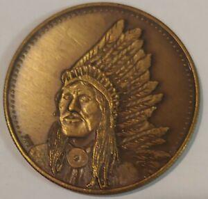 Rare Washakie -Shosone medal coin 1979 Osborne Mint American Indian Leaders