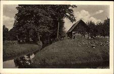Burg Kolonie Brandenburg AK ~1920/30 Spreewald Bauernhaus Haus Landschaft Bach