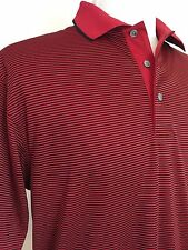 NEW Mens Large Champion Tour Golf Polo Shirt Stripes Red
