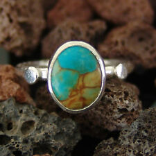 925k Sterling Silver Stackable Turquoise Ring By Omer Roman Art Designer Jewelry