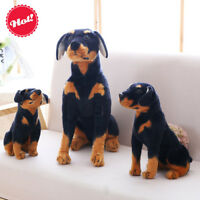 Doberman Pinscher Dog Plush Soft Toy Doll For Kids And Home Decor Birthday Gift