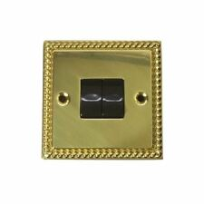 10 AMP PLATE SWITCH 2 GANG 2 WAY BRG342 CLASSIC BRASS