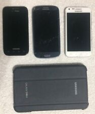 (Lot of 4) Samsung Galaxy S, S2, S3 & Tab3 AS-IS Broken Not Working Parts Repair