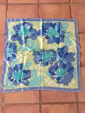 Vintage Scarves By Vera Neumann Scarf Designer Floral Blue Green White