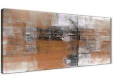 ARANCIO nero bianco dipinto salotto a Muro Art-Astratto 1398 - 120 cm