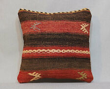 14x14 Natural Pillow Cover Wool on Wool Decorative Pillow Case Kilim Pillows